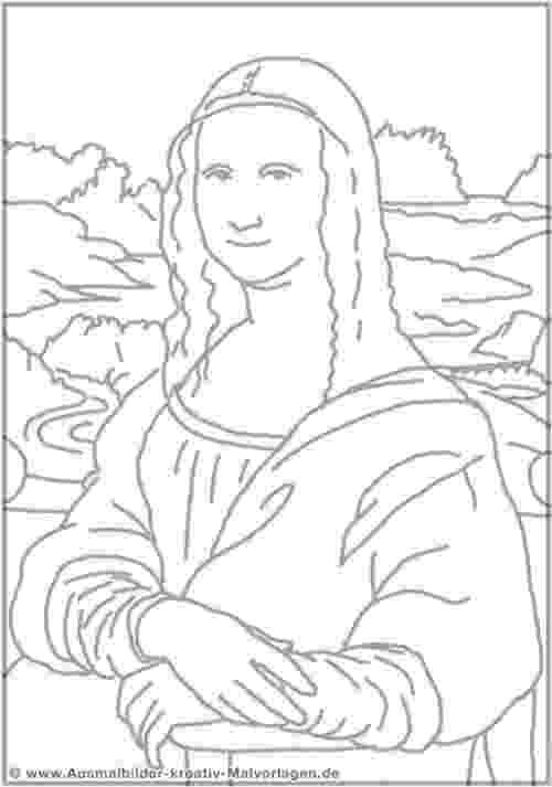 printable mona lisa basic and simple mona lisa coloring pages for toddlers mona lisa printable
