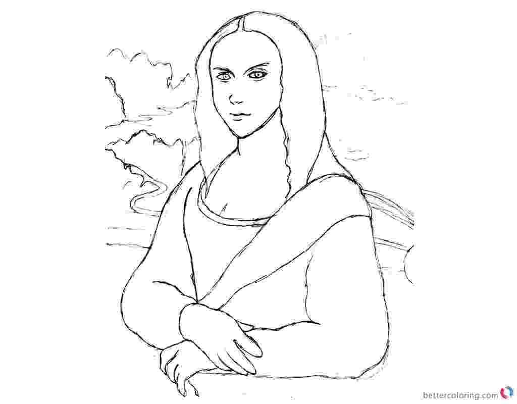 printable mona lisa mona lisa coloring pages practice sketch by alphakazuya printable mona lisa