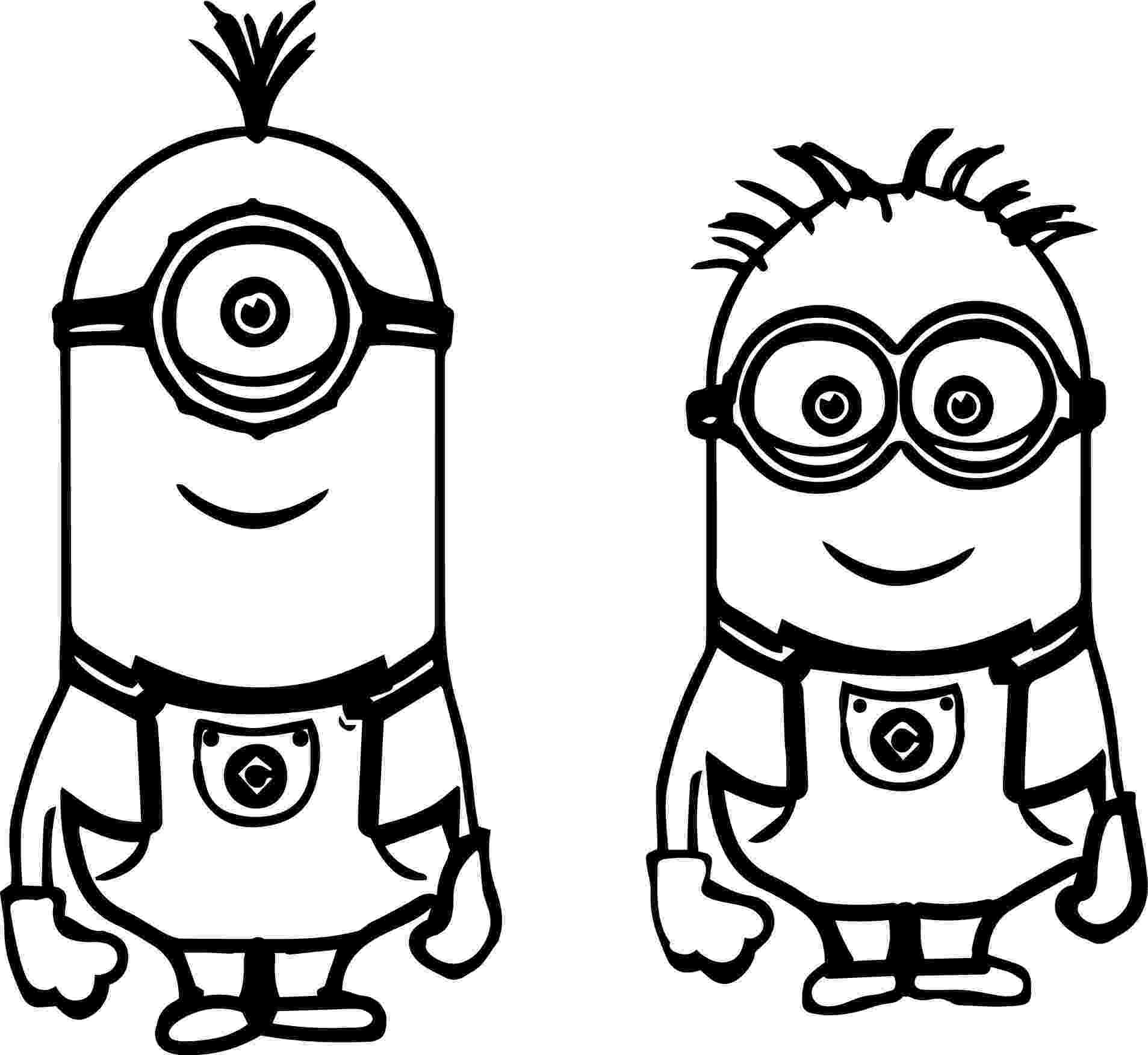 printable pictures of minions to print minion coloring pages from despicable me for free minions of printable pictures