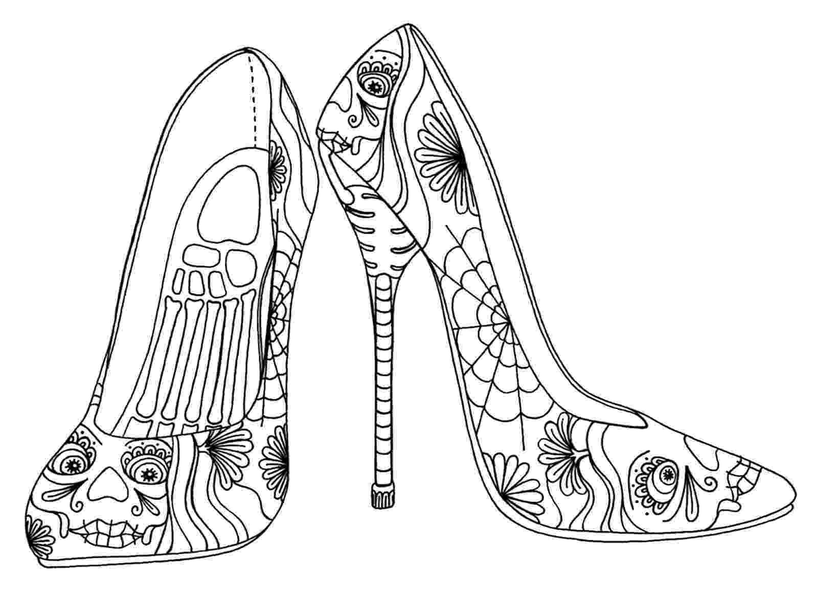 printable pictures of shoes 305 best images about coloring pages for girls on pictures of printable shoes