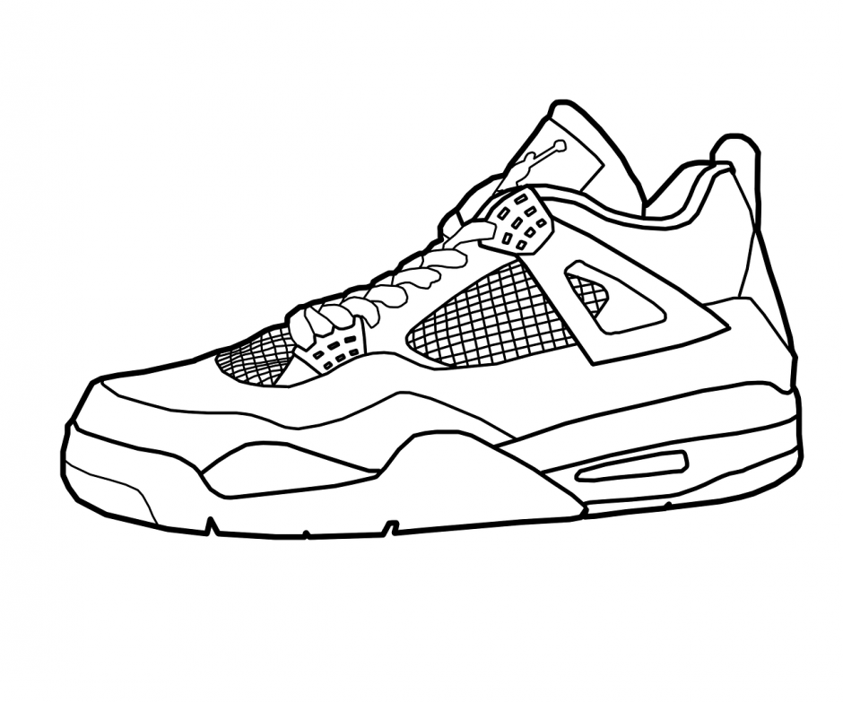 printable pictures of shoes air jordan shoes coloring pages to learn drawing outlines of shoes pictures printable