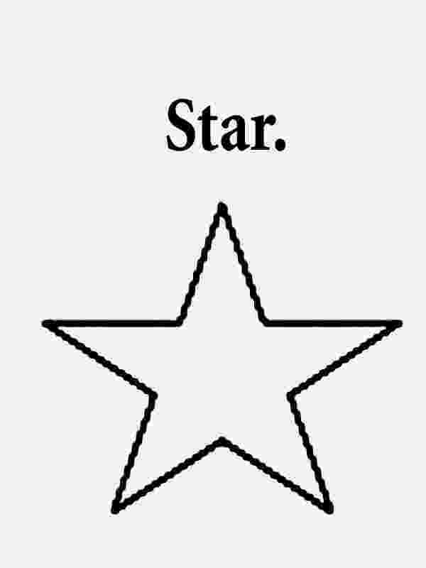 printable star early play templates star printable
