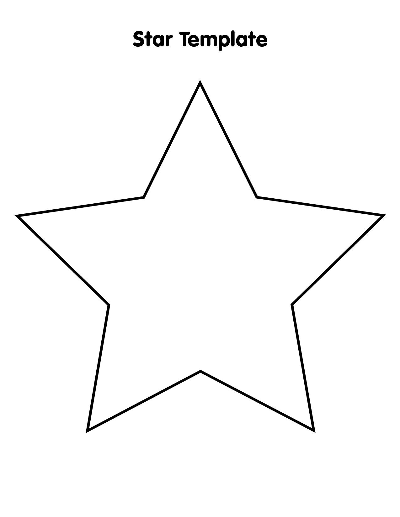 printable star large star template printable clipartsco printable star