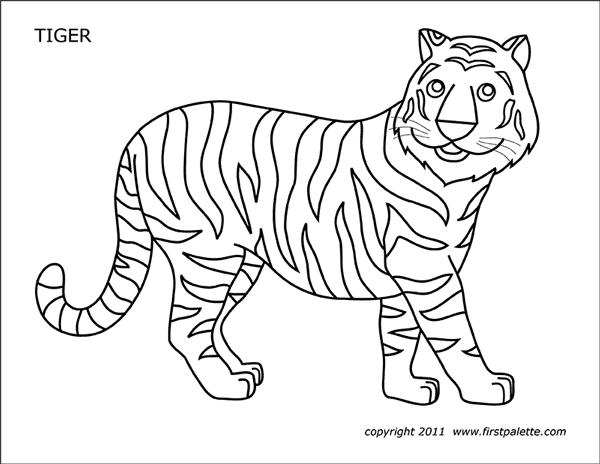 printable tiger free printable tiger coloring pages for kids tiger printable