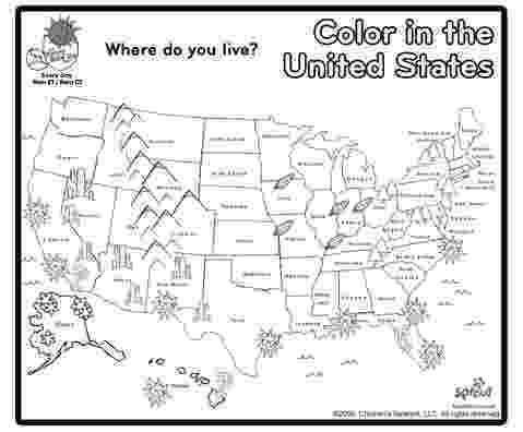 printable usa coloring map color in the united states learn the states pinterest printable usa map coloring