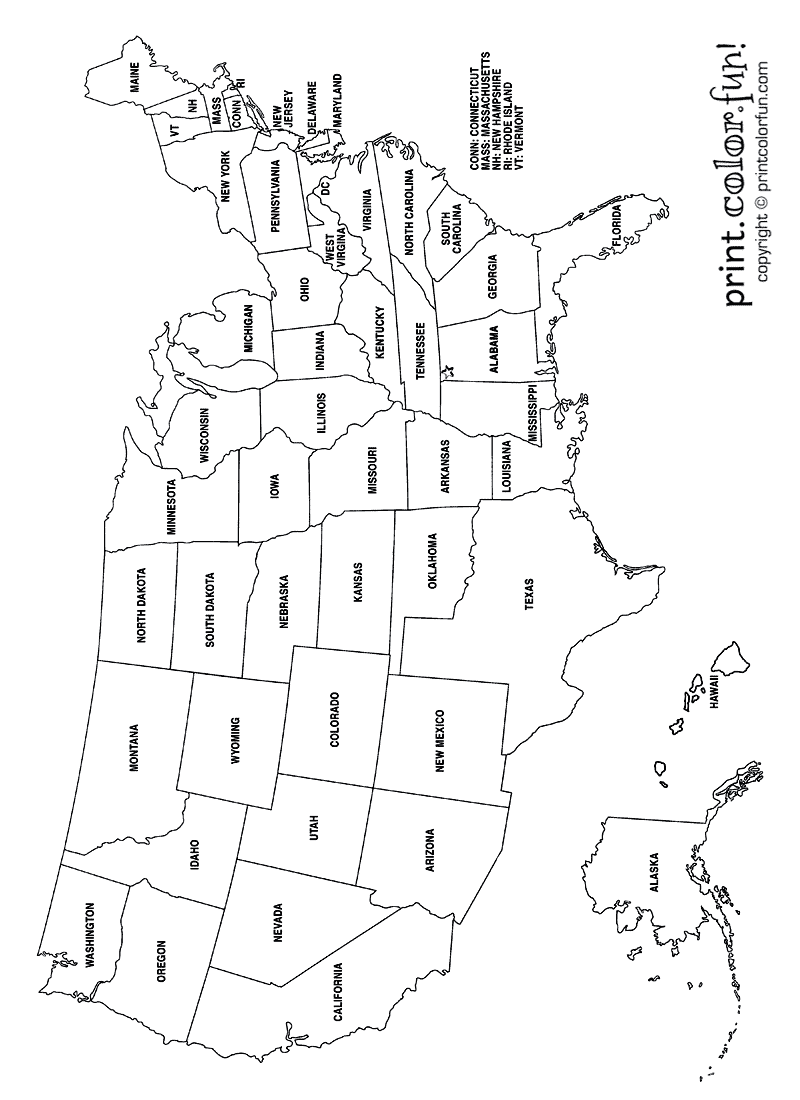 printable usa coloring map continental united states coloring page map crayon printable coloring usa map