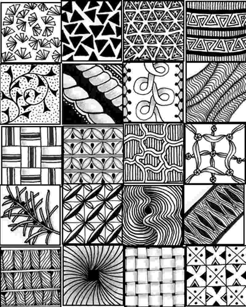 printable zentangle patterns printable sheets to serve as a quick reference for printable patterns zentangle