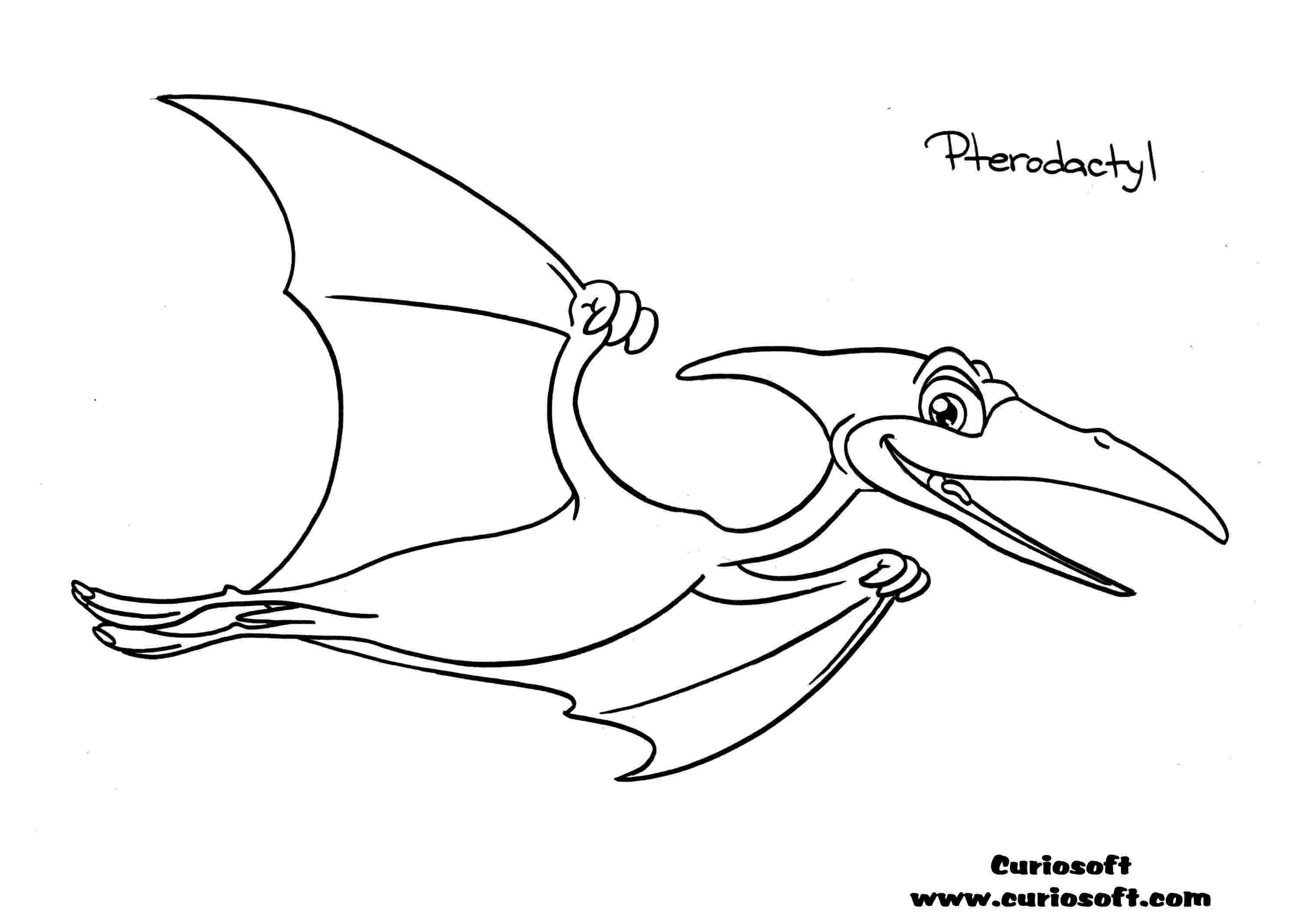 pterodactyl coloring page teradactyl dinosaur information dinosaurs pictures and facts pterodactyl coloring page
