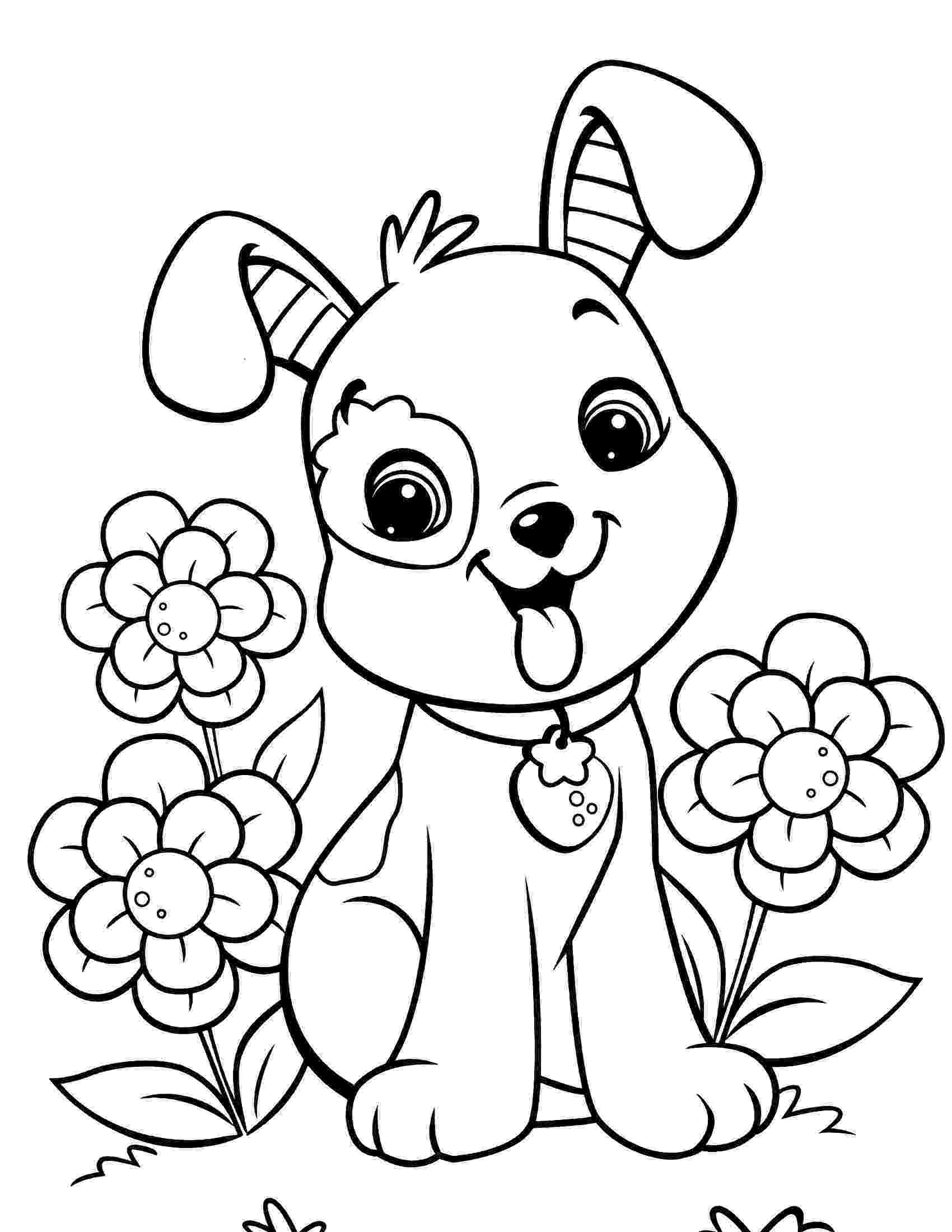 puppy coloring page cute puppy coloring pages for kids free printable page puppy coloring