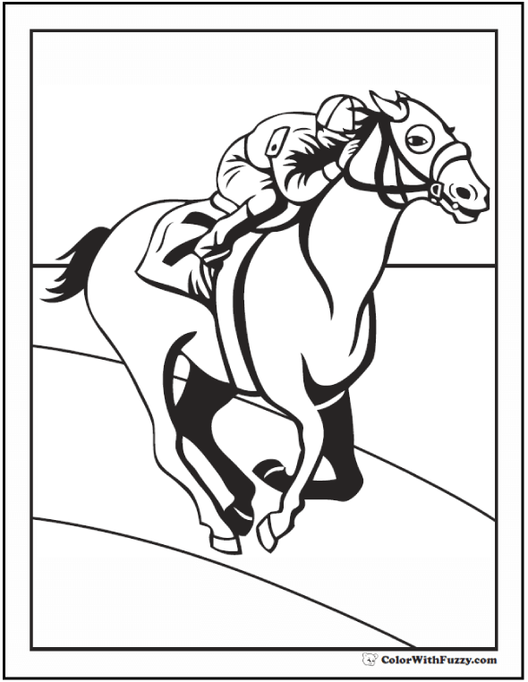 race horse coloring pages horse coloring page riding showing galloping race coloring horse pages