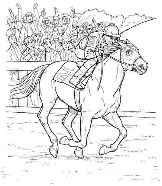 race horse coloring pages horse race coloring pages hellokidscom coloring race horse pages
