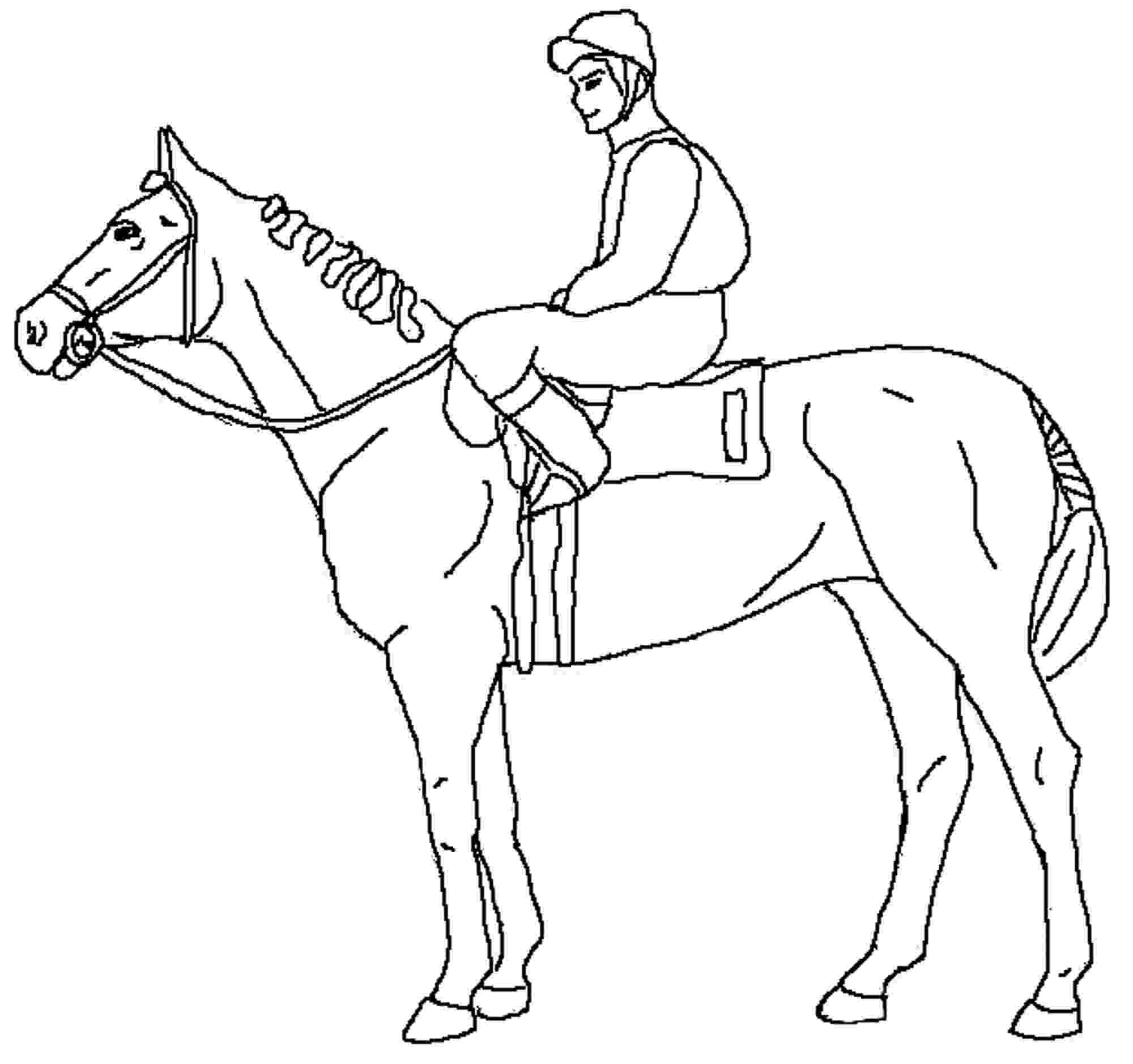 race horse coloring pages horse racing coloring pages at getcoloringscom free horse pages race coloring