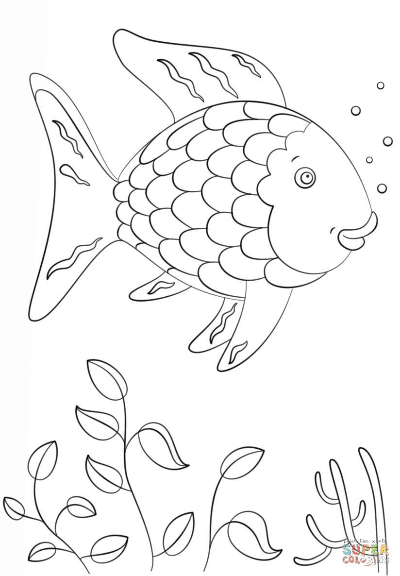 rainbow fish coloring sheet easy drawings of a little fish animal under town coloring rainbow sheet fish