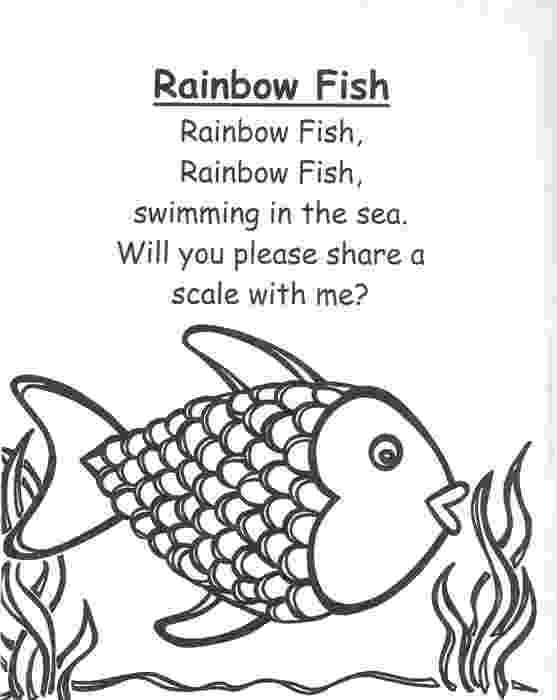 rainbow fish colouring sheets poems about love for kids about life about death about fish colouring rainbow sheets