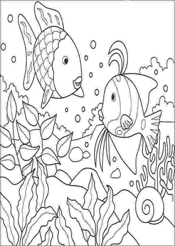 rainbow fish colouring sheets rainbow fish template coloring page free printable colouring fish rainbow sheets