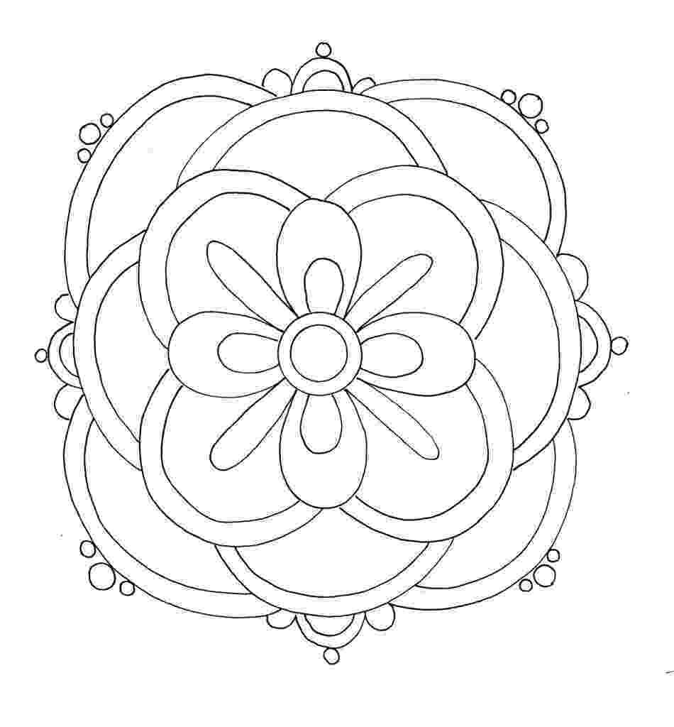 rangoli colouring pattern free printable rangoli coloring pages for kids colouring rangoli pattern 1 4