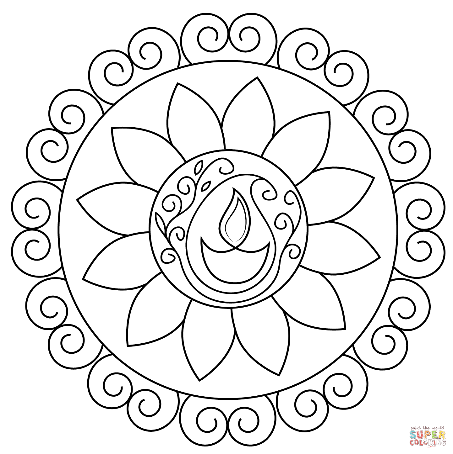 rangoli colouring pattern free printable rangoli coloring pages for your little one pattern rangoli colouring