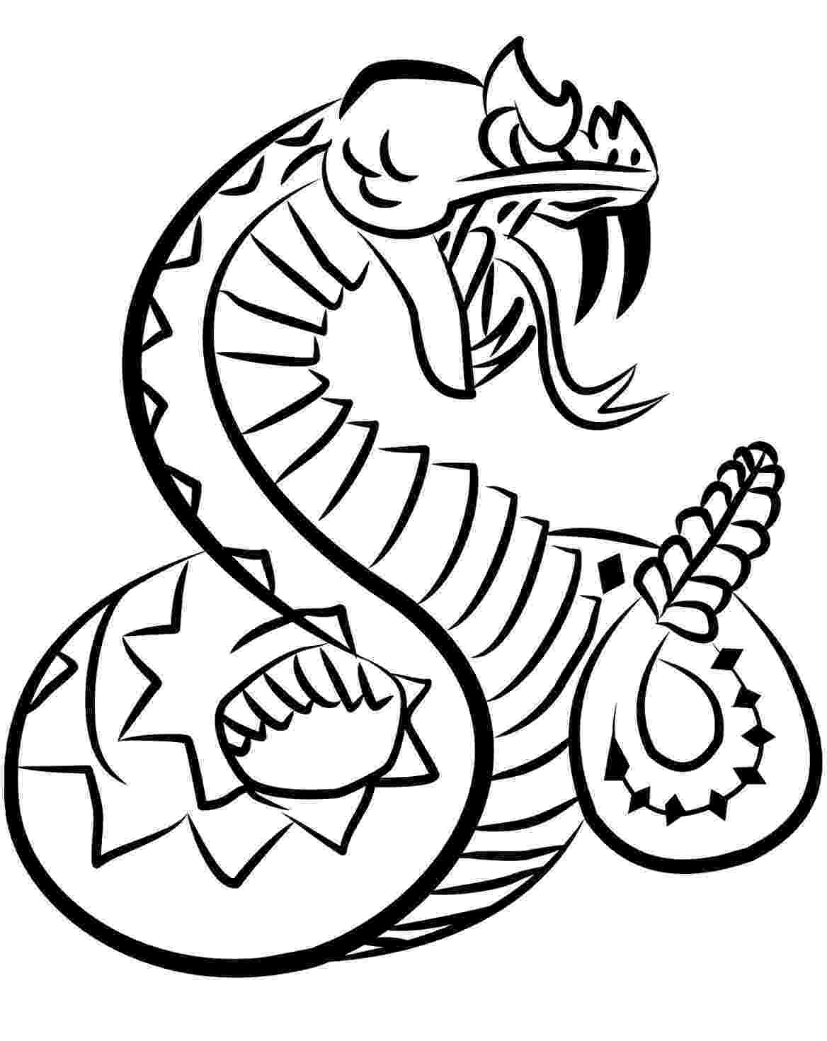 rattlesnake coloring pages coloring pages snakes coloring pages free and printable coloring rattlesnake pages