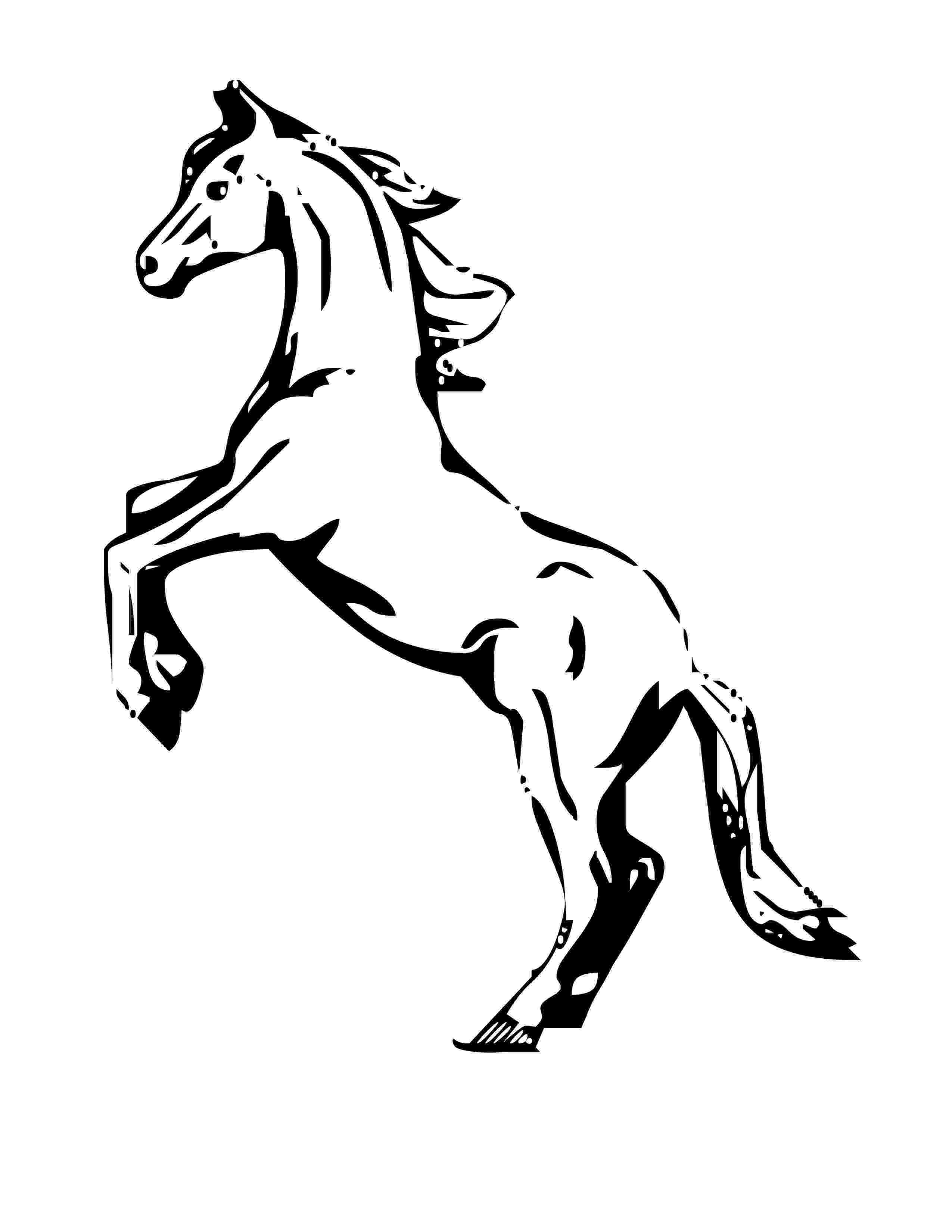 rearing horse coloring pages free horse coloring pages coloring rearing horse pages