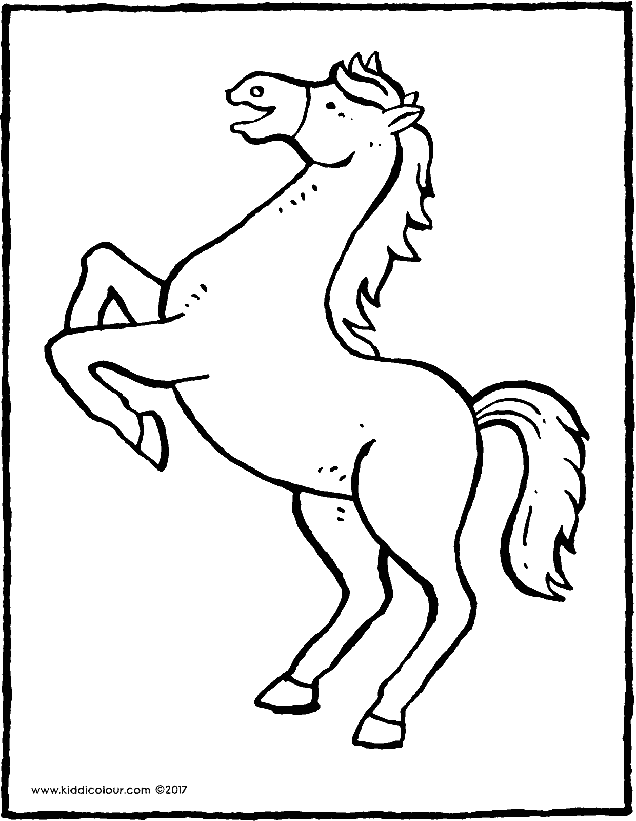 rearing horse coloring pages horse netart pages rearing coloring horse