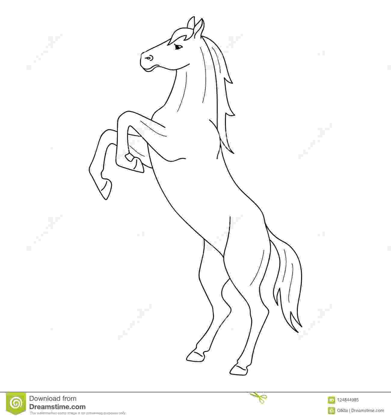 rearing horse coloring pages horse rearing lineart by solinabright on deviantart pages horse rearing coloring