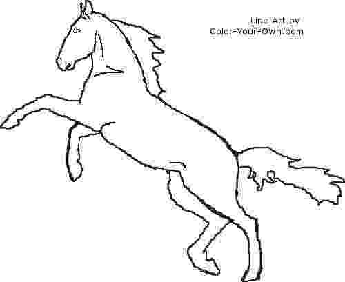 rearing horse coloring pages horseshoe outline coloring page free printable coloring rearing horse pages coloring
