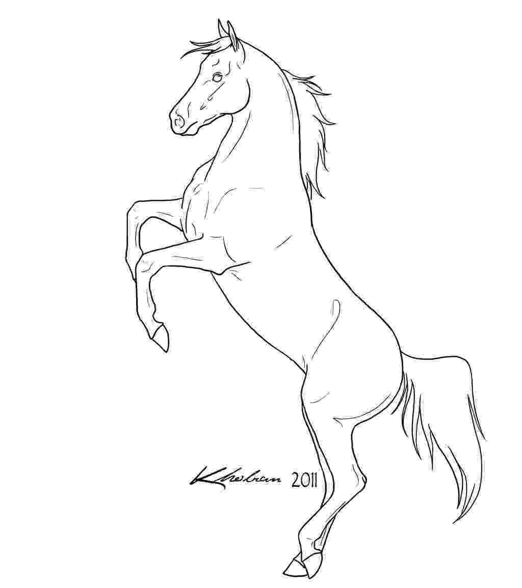 rearing horse coloring pages rearing horse lineart by kholran on deviantart rearing horse coloring pages