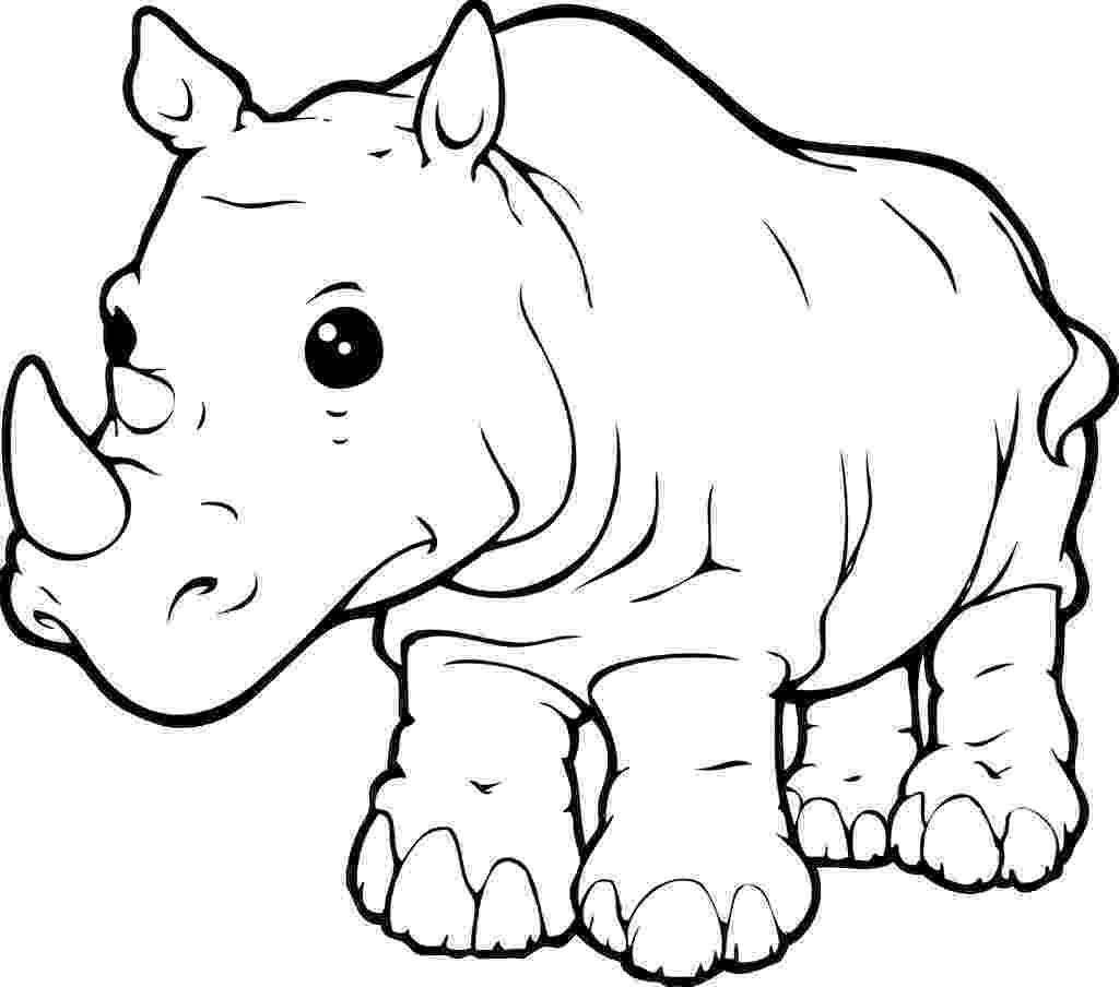 rhino coloring page rhinoceros free printable templates coloring pages page rhino coloring