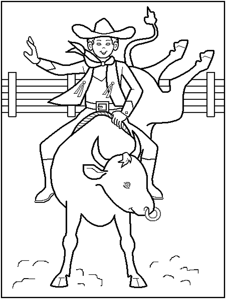 rodeo coloring pages cowboy coloring pages to print so percussion rodeo pages coloring