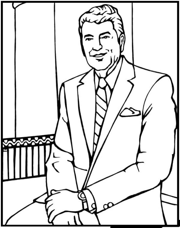 ronald reagan coloring pages coloring books american presidents coloring book ronald coloring pages reagan