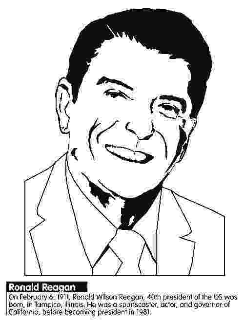 ronald reagan coloring pages fun us president coloring sheets reagan pages ronald coloring