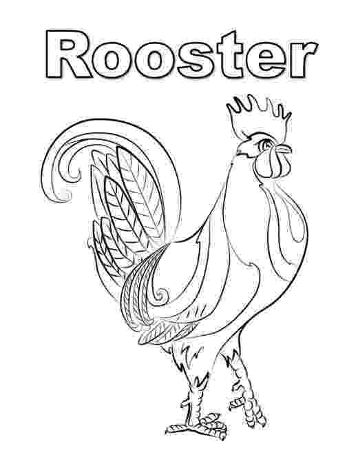 rooster coloring pages free printable rooster coloring page rooster pages coloring free printable