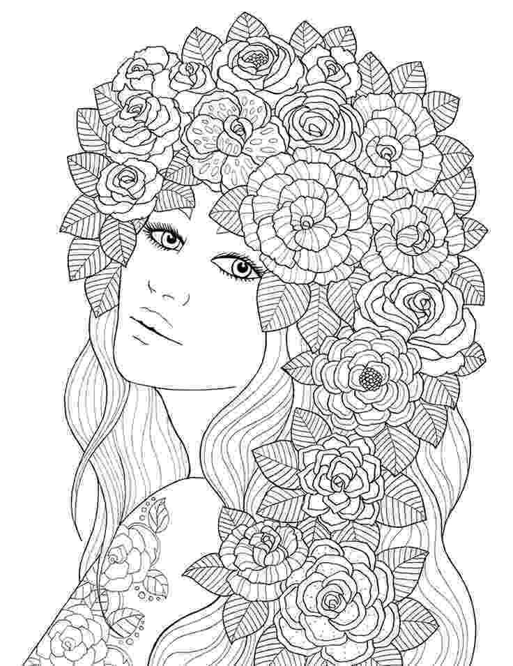 rose coloring pages for adults quotpour voir la vie en rosequot coloring book agenda 2016 on rose adults coloring pages for