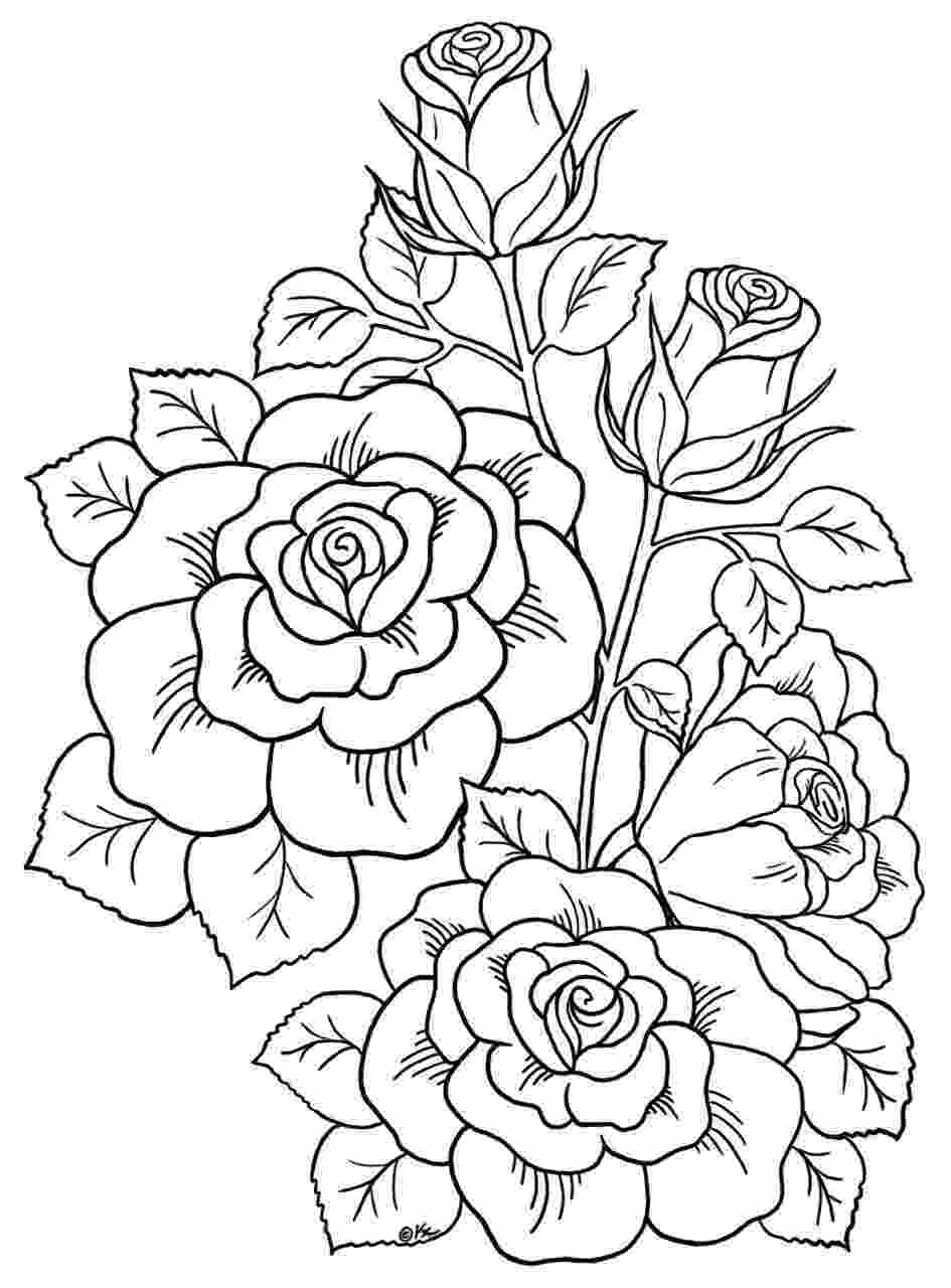 rose flower coloring page flower coloring pages rose coloring flower page