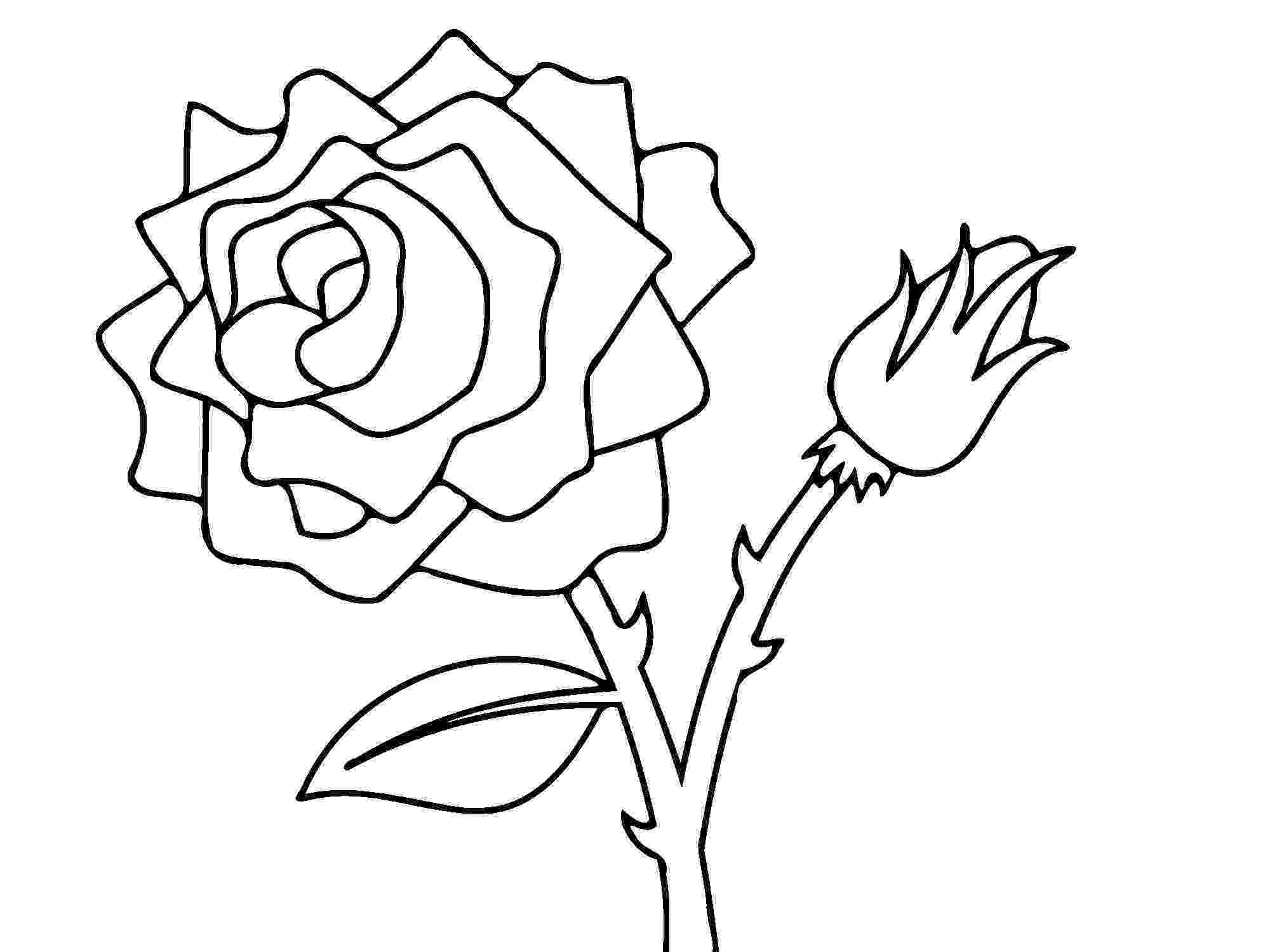 rose flower coloring page rose flower coloring pages getcoloringpagescom page flower rose coloring