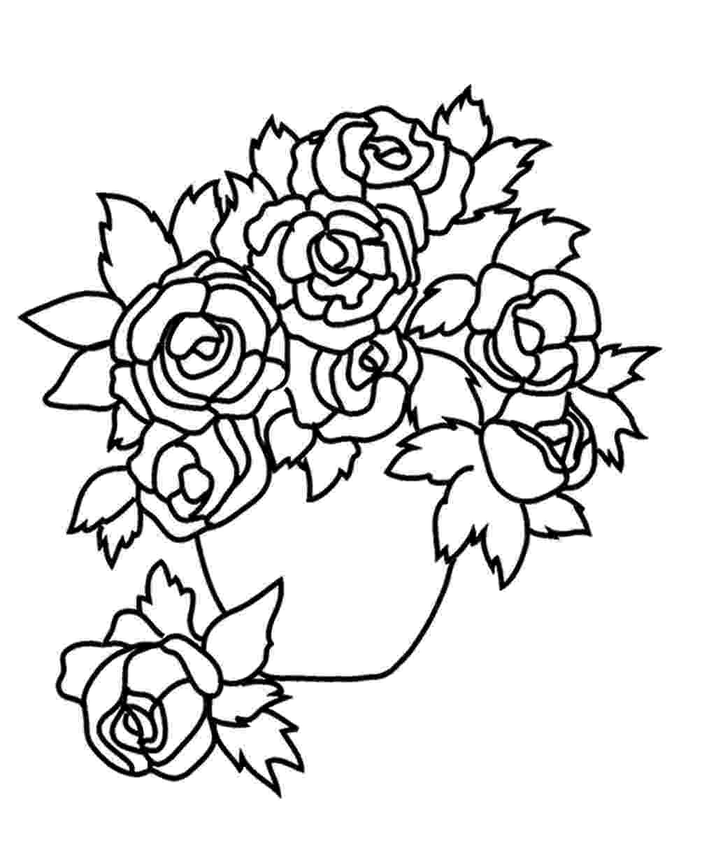 rose flower coloring page rose flower coloring pages getcoloringpagescom rose page coloring flower