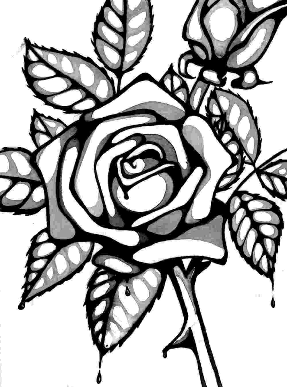 rose flower coloring page roses coloring pages getcoloringpagescom rose coloring flower page