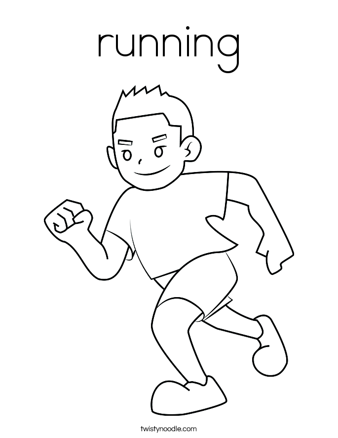 running coloring pages run coloring page twisty noodle pages running coloring
