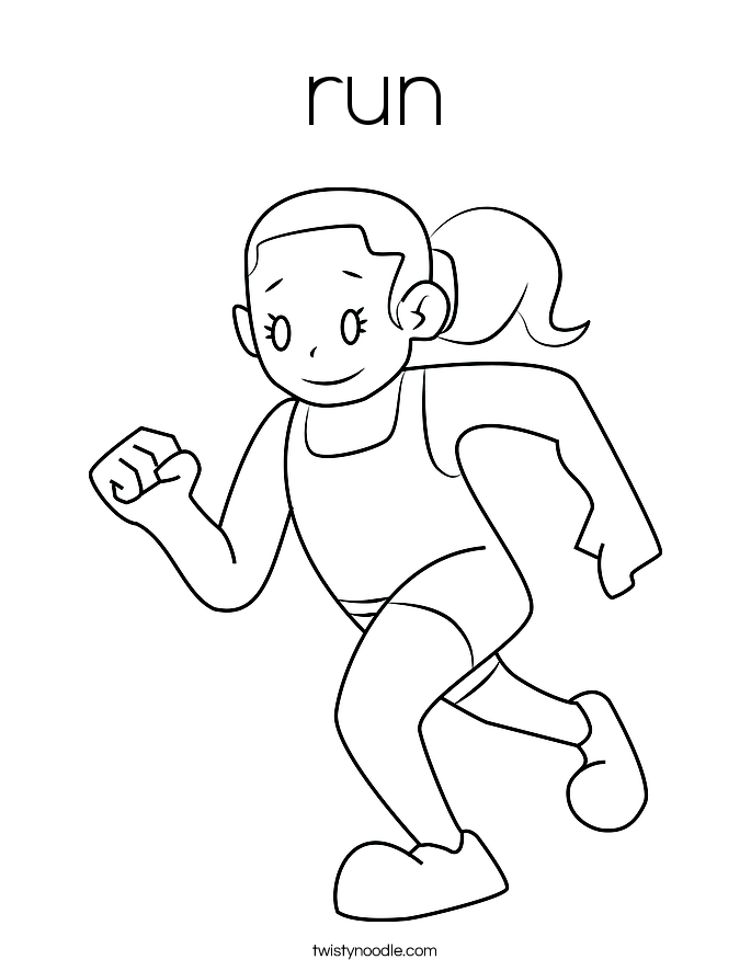 running coloring pages running coloring pages getcoloringpagescom pages running coloring