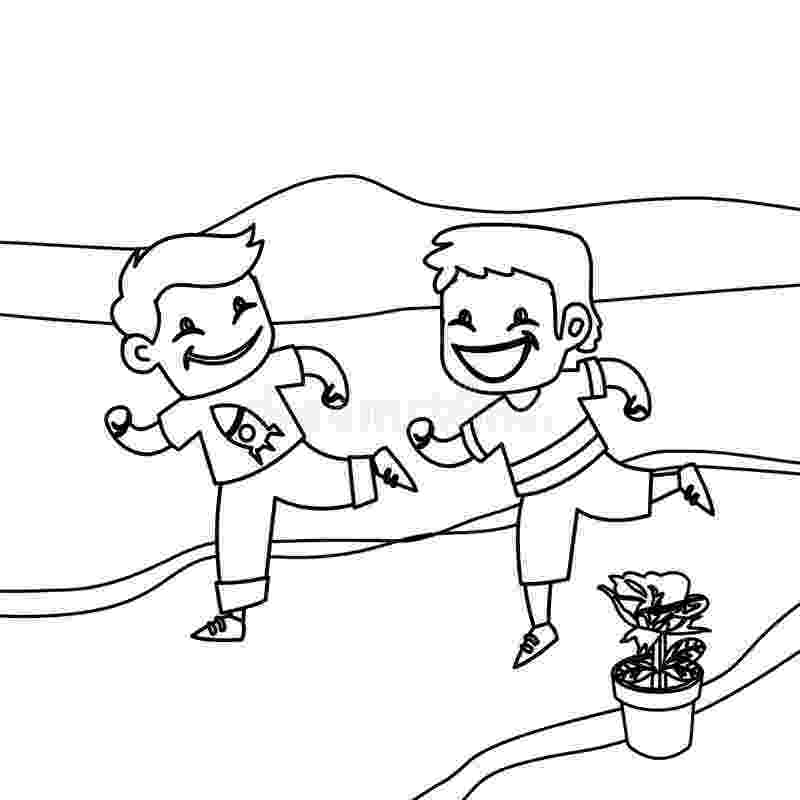 running coloring pages running coloring pages kidsuki pages coloring running