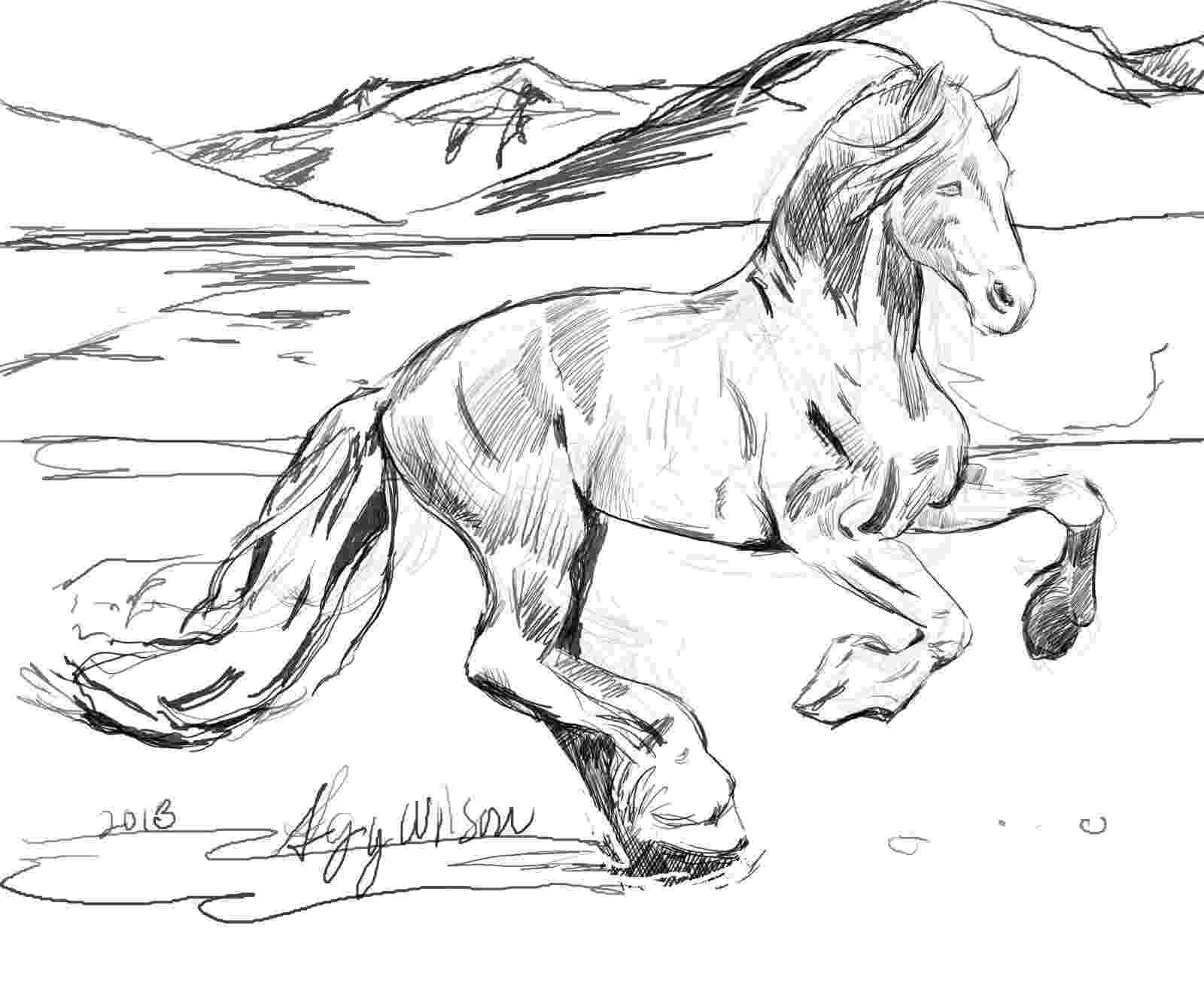 running horse coloring pages agy wilson39s art coloring page something different running coloring pages horse