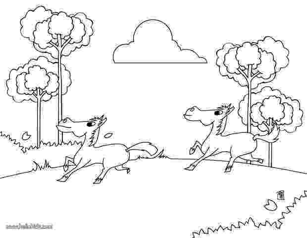 running horse coloring pages horse running outline in horses coloring page netart coloring running horse pages