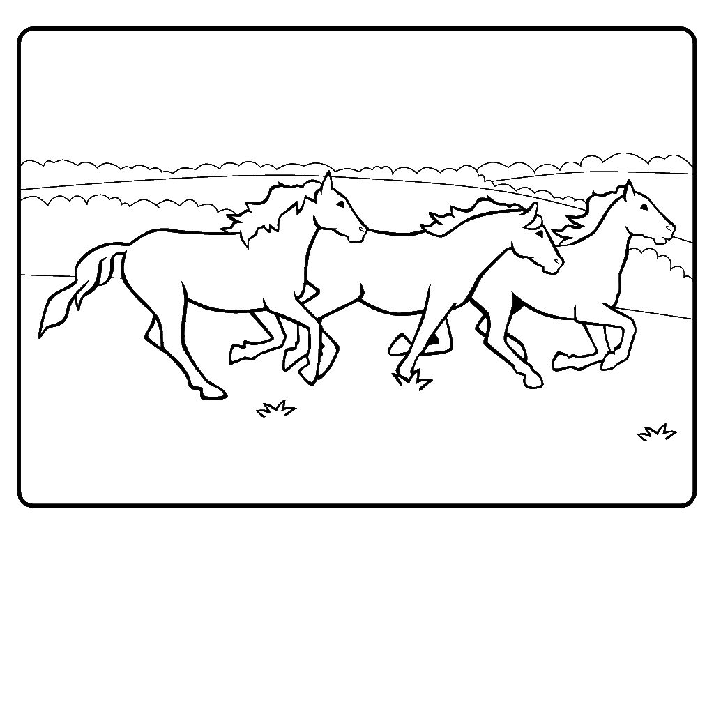 running horse coloring pages running horses coloring pages hellokidscom horse running coloring pages