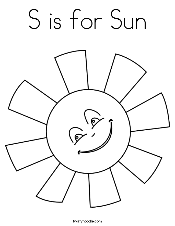s for sun s is for sun coloring page twisty noodle s sun for