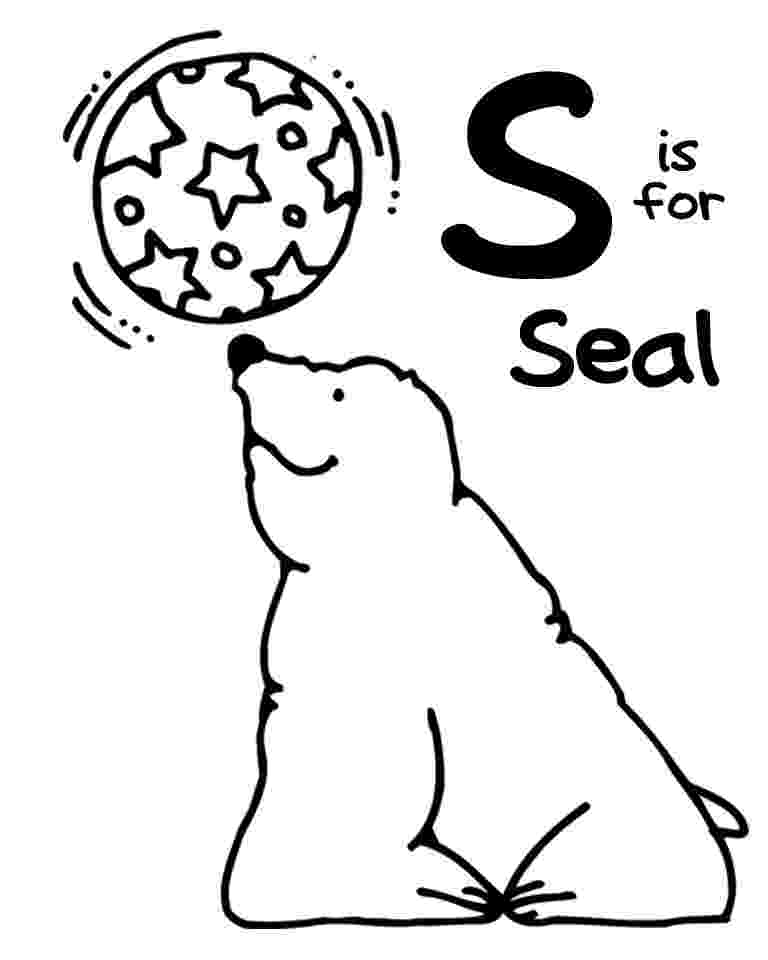 s is for seal ss seal letter s worksheets preschool letters for is s seal
