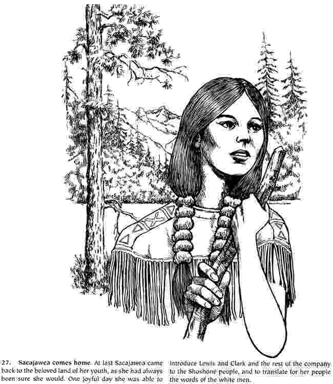 sacagawea pictures to print sacagawea with lewis and clark coloring page free to sacagawea print pictures