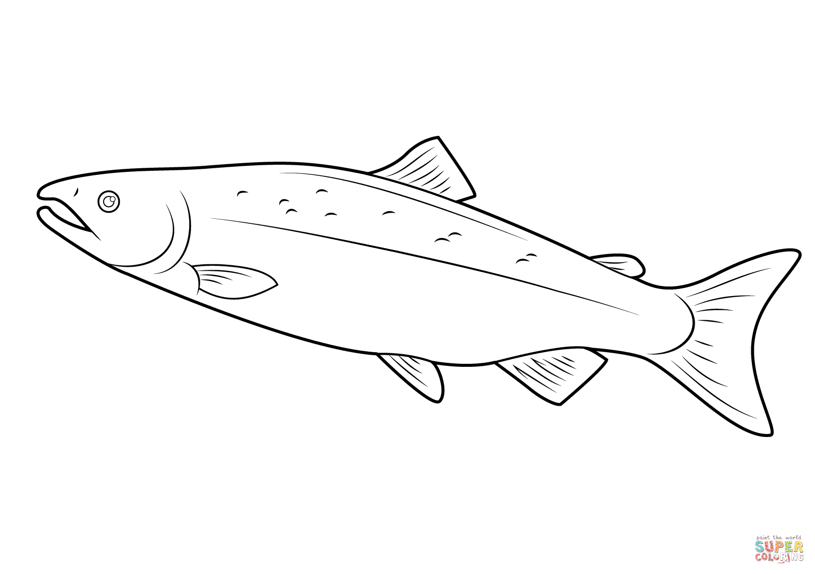 salmon coloring pages pacific salmon coloring pages download and print for free coloring salmon pages