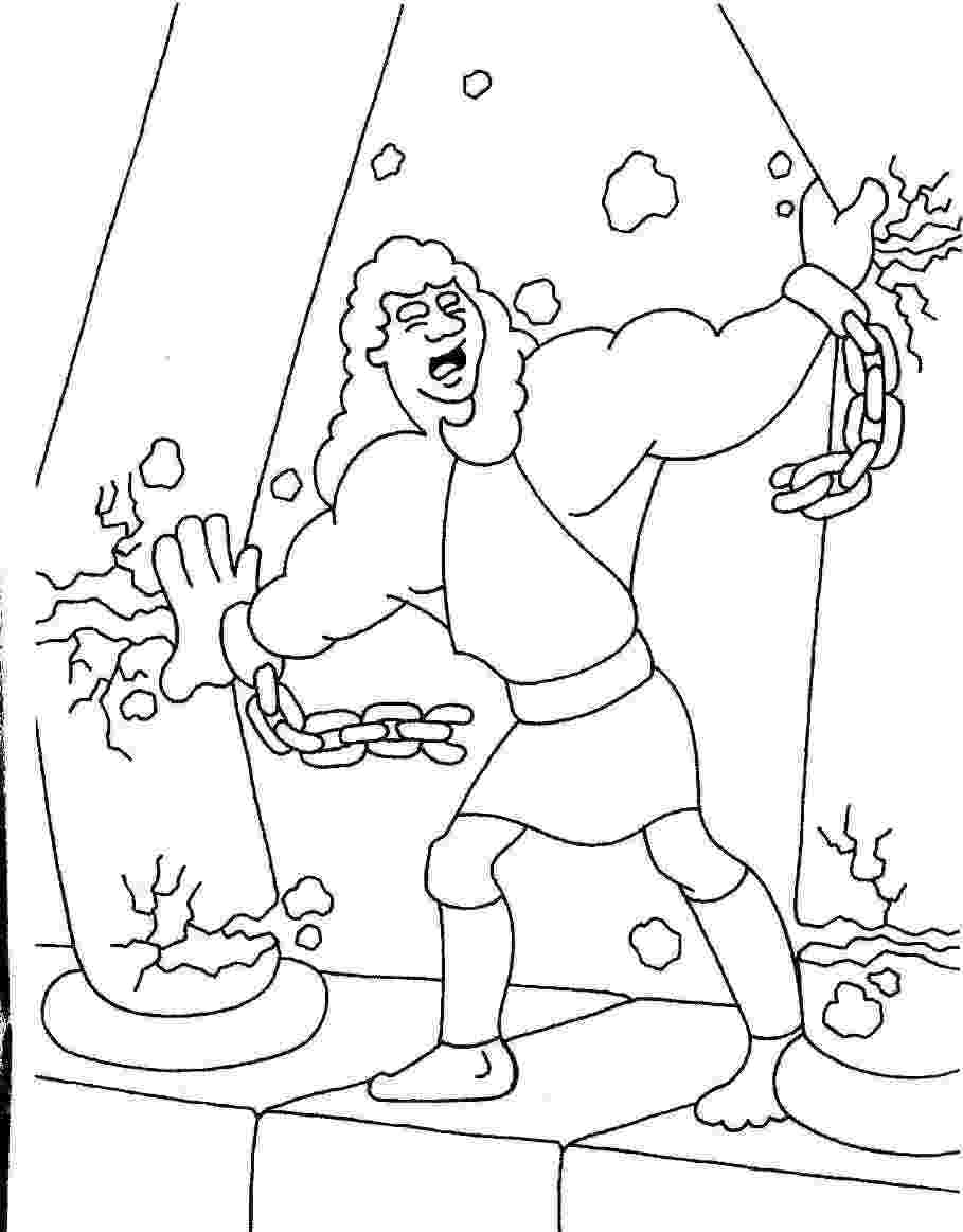 samson bible coloring pages bible story coloring page for samson and delilah free samson bible pages coloring