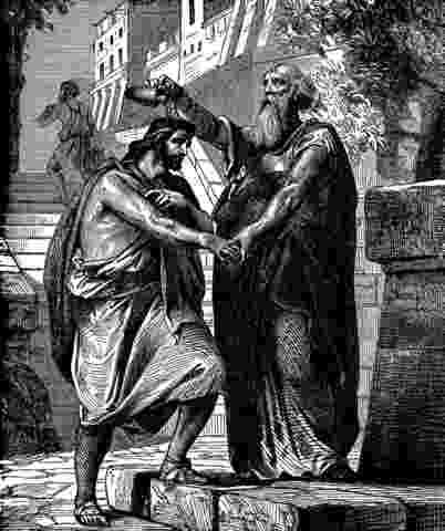 samuel rebukes saul saul anointed king stock photo 6076252 alamy samuel rebukes saul