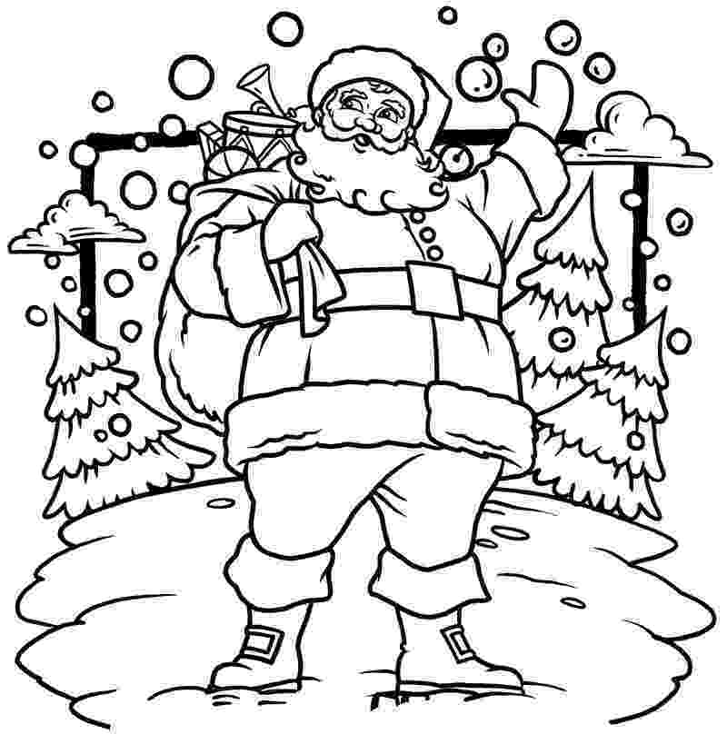 santa claus color christmas santa claus drawings christmas wallpaper santa claus color